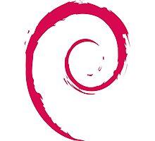Debian Red Photographic Print