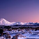Mount Ngauruhoe at sunrise pano 1 by Paul Mercer