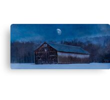 Tobaco Barn in Winter Canvas Print