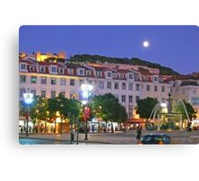 Lisbon....Rossio Square Canvas Print