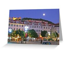 Lisbon....Rossio Square Greeting Card