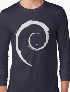 Debian White Long Sleeve T-Shirt