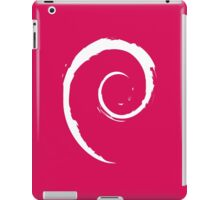 Debian White iPad Case/Skin