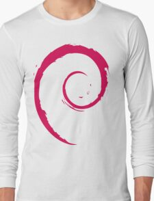 Debian Red Long Sleeve T-Shirt