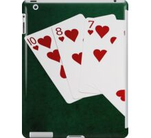 Poker Hands - Flush - Hearts Suit iPad Case/Skin