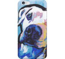 Pit bull Dog Bright colorful pop dog art iPhone Case/Skin