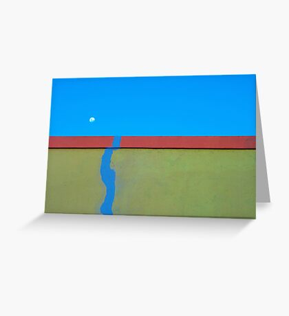 Sky leaking onto wall Greeting Card