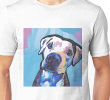 Pit bull Dog Bright colorful pop dog art Unisex T-Shirt