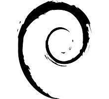 Debian Black Photographic Print