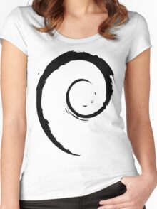Debian Black Women's Fitted Scoop T-Shirt