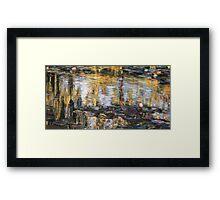 Willow reflections, Monets Garden, Giverny Framed Print