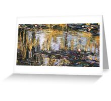 Willow reflections, Monets Garden, Giverny Greeting Card