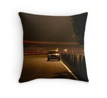 Lonely Car Throw Pillow