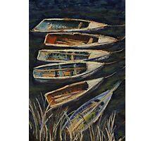 Fishing boats on Lake Titicaca, Peru Photographic Print