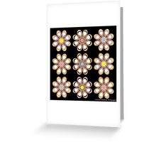 Fashion Foot Flowers Greeting Card