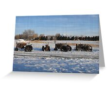 Old Tractors in the Snow Greeting Card