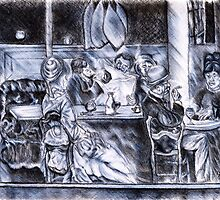 Paris Society through the Cafe Window by Steven Torrisi