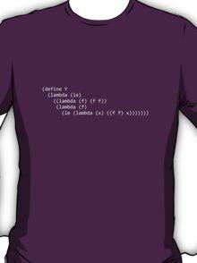Y Combinator from Little Schemer T-Shirt