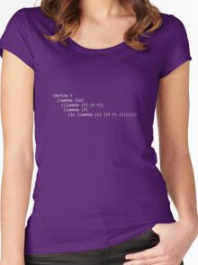 Y Combinator from Little Schemer Women's Fitted Scoop T-Shirt
