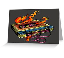 Retro Music. Old Skool music cassette tape. Greeting Card