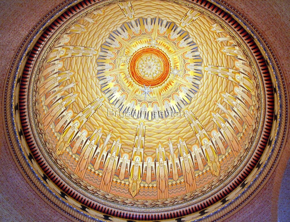 Inside Dome at War Memorial by Bryan Freeman