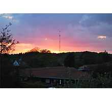 Sunset town Photographic Print
