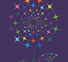 Shining abstract dandelion by Olga Chetverikova