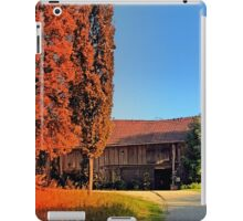Traditional farm, rainbow colors light | architectural photography iPad Case/Skin