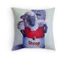 Sheep Soup Throw Pillow