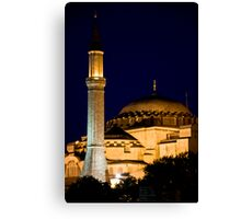 Lighted Minaret And Dome Canvas Print