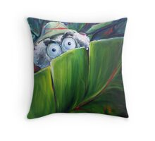 Ewes Being Watched Throw Pillow