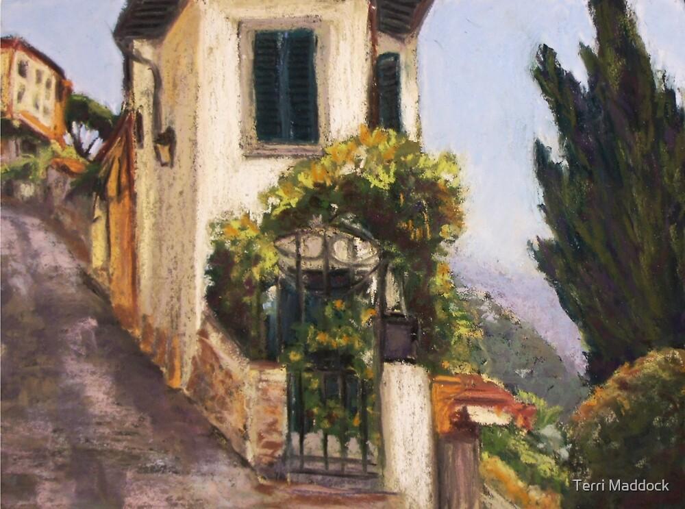 Fiesole, via Giuseppe Verdi by Terri Maddock