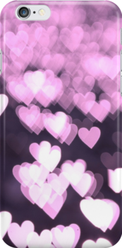 Hearts of Magenta - iPhone Case by Bryan Freeman
