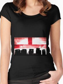 Englands Stonehenge Women's Fitted Scoop T-Shirt