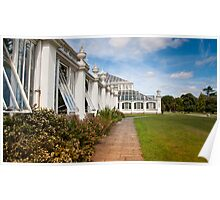 Glasshouses at Kew Gardens UK Poster