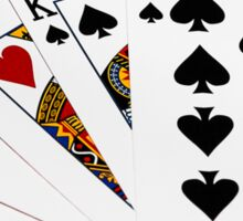 Poker Hands - Two Pair - Ace, King Sticker