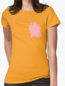 Pastel Heart Womens Fitted T-Shirt