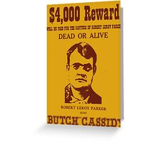 Butch Cassidy Greeting Card