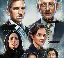 Person of Interest Cast Illustration by Neil Davies