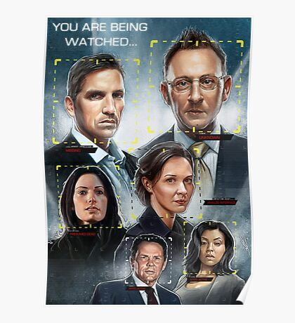Person of Interest Cast Illustration Poster