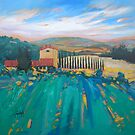 Line of Cypresses by scottnaismith