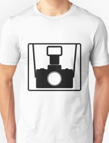 Camera SLR Flash with straps Unisex T-Shirt