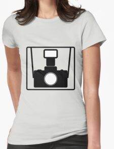 Camera SLR Flash with straps Womens Fitted T-Shirt