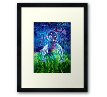 Dolphin Gaze (Prints, Cards & Posters) Framed Print