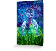 Dolphin Gaze (Prints, Cards & Posters) Greeting Card