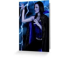 Into the dark side. Greeting Card
