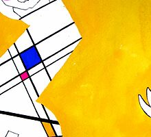 Mondrian's Muse 01 by D.U.R.A .