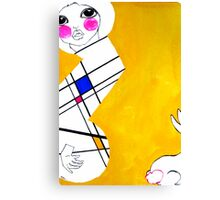Mondrian's Muse 01 Canvas Print