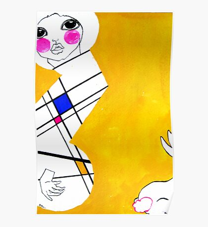 Mondrian's Muse 01 Poster