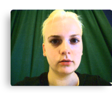 My New Hair - Film Grain Filter Canvas Print